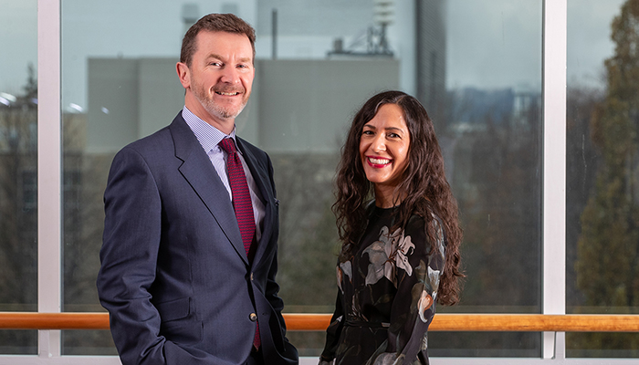 From left: Mark Larché, associate chair, and Sheila Singh, chair, of the new College of Health Inventors at McMaster University.
