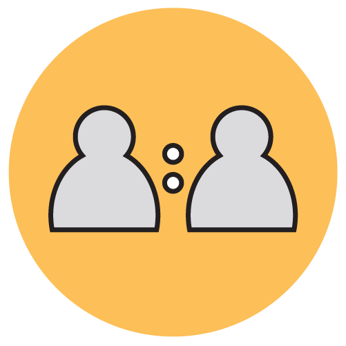 Icon for one on one mentoring