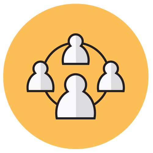 Icon of people connected by a circle